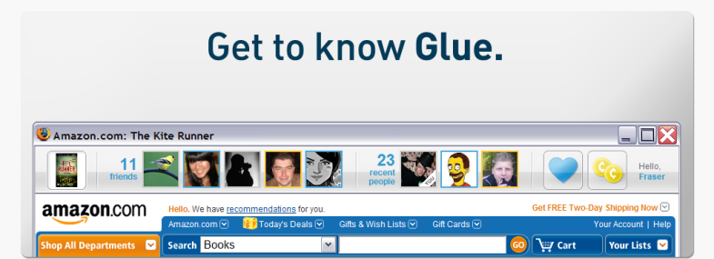 getglueimage Glue   Adaptive Blues Product Based Social Network