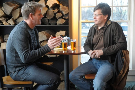 HOTEL HELL: Gordon Ramsay (L) speaks with Juniper Hill Inn's general manager (R) CR: Jeffrey Neira/FOX