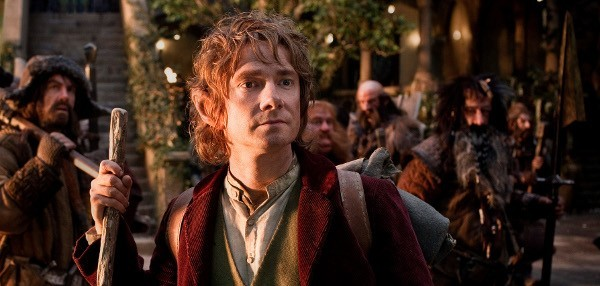 """(L-r) JAMES NESBITT as Bofur, MARTIN FREEMAN (front) as Bilbo Baggins, STEPHEN HUNTER as Bombur, GRAHAM McTAVISH as Dwalin, WILLIAM KIRCHER as Bifur, and JED BROPHY as Nori in New Line Cinema's and MGM's fantasy adventure """"THE HOBBIT: AN UNEXPECTED JOURNEY,"""" a Warner Bros. Pictures release."""