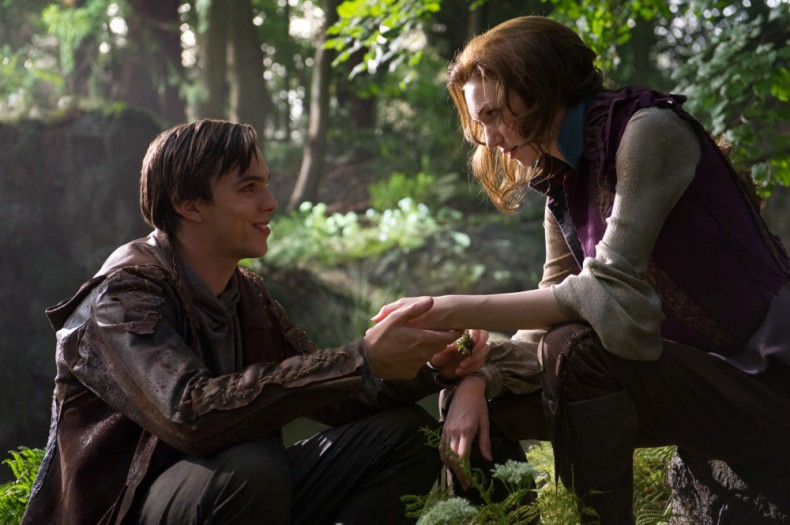 "(L-r) NICHOLAS HOULT as Jack and ELEANOR TOMLINSON as Isabelle in New Line Cinema's and Legendary Pictures' action adventure ""JACK THE GIANT SLAYER,"" a Warner Bros. Pictures release."