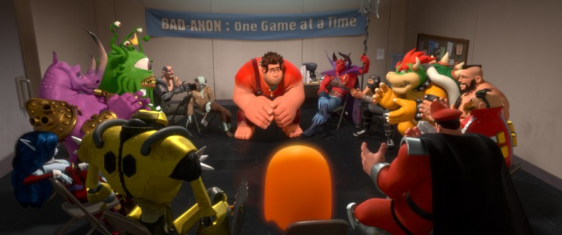 """WRECK-IT RALPH""   (Pictured) RALPH (voice of John C. Reilly) amongst other video game bad guys.  ©2013 Disney. All Rights Reserved."